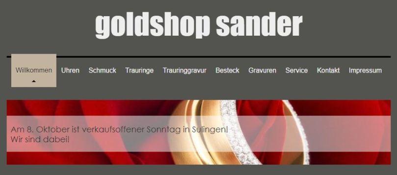 Goldshop-Sander